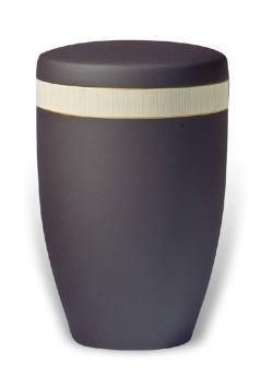 urn mat zwart band creme