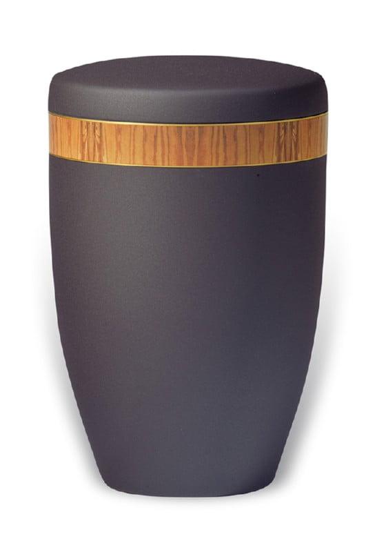 urn mat zwart band houtnerf