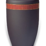 urn mat zwart band kersenhout