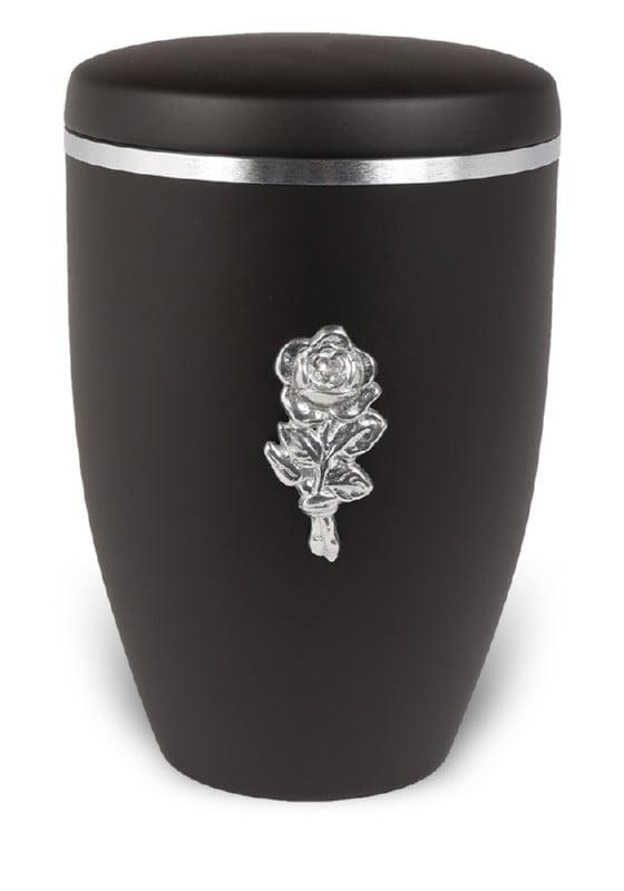 urn mat zwart bloem
