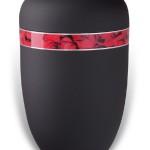 urn mat zwart bloemen