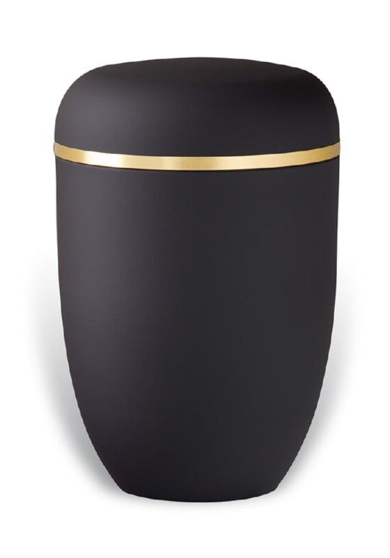 urn mat zwart goudband