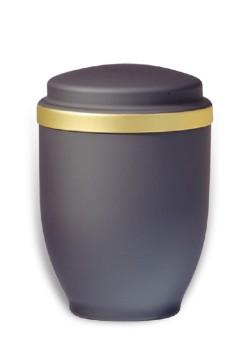 urn mat zwart goudband medium