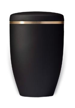 urn mat zwart met goudband