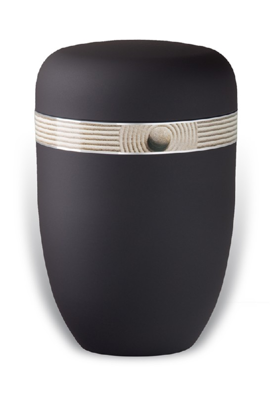 urn mat zwart zand