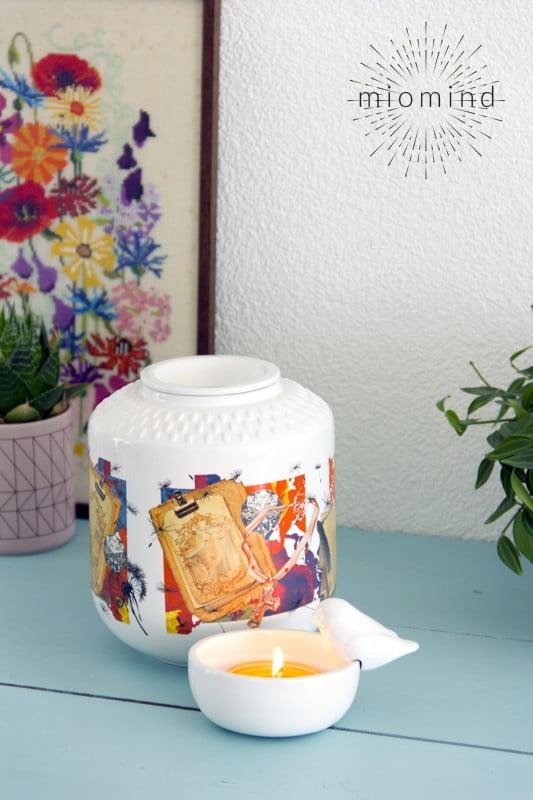 urn miomind maria met kleurrijke afbeelding