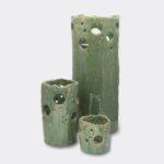 urn set green sparkle