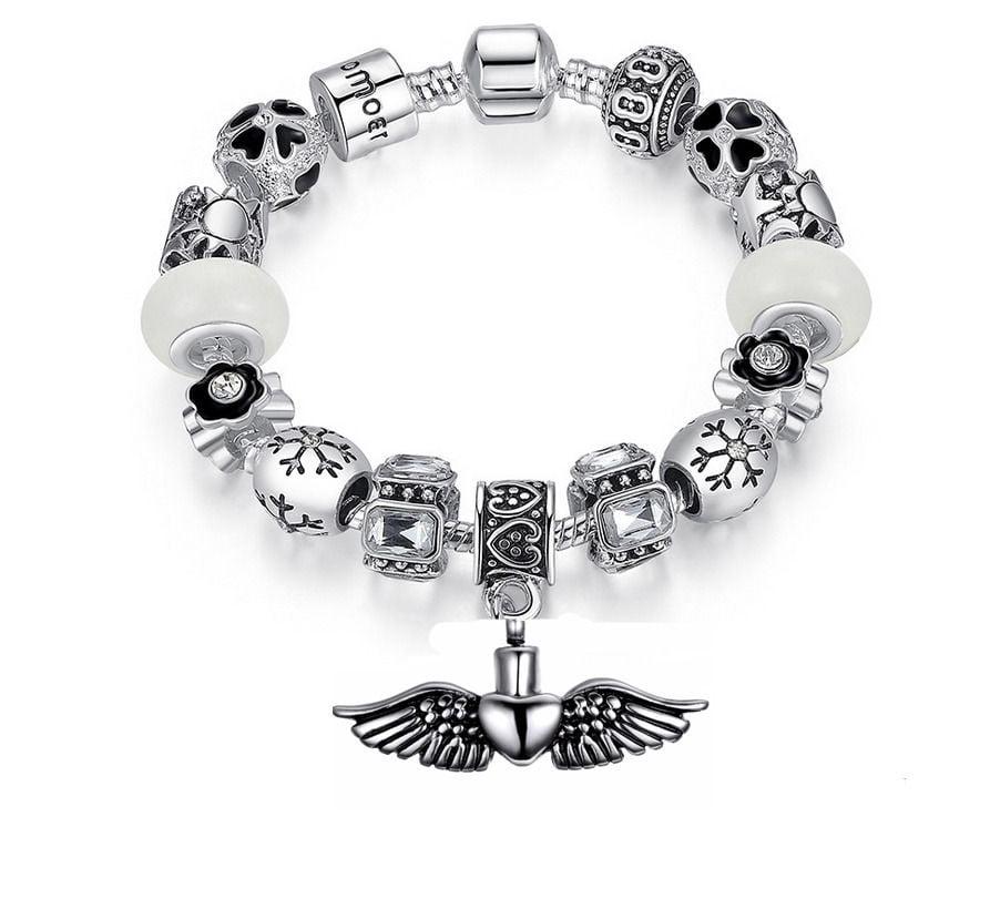 assieraad asarmband wings, hart met vleugels