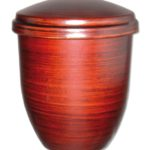 ecologische urn touch of red brown
