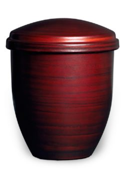 ecologische urn asbus rood bruin