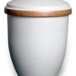 ecologische urn asbus wit