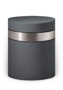ecologische urn grijs zilverband