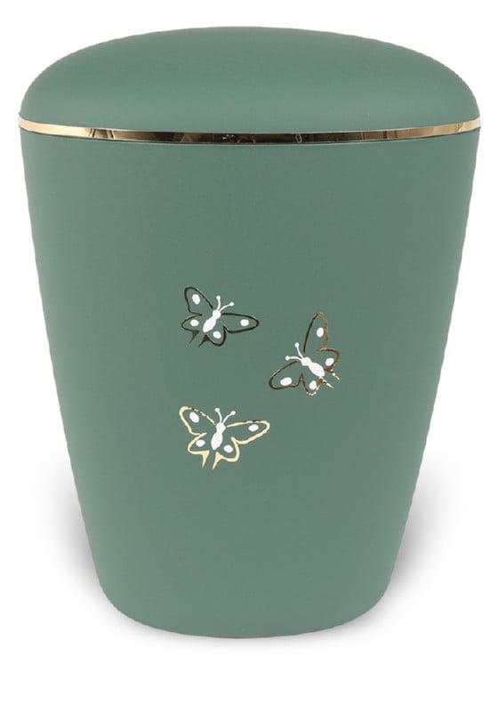 ecologische urn mint vlinders