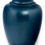 ecologische urn parelmoer petrol