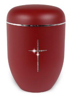 ecologische urn rood kruis strass