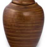 ecologische urn striping brown