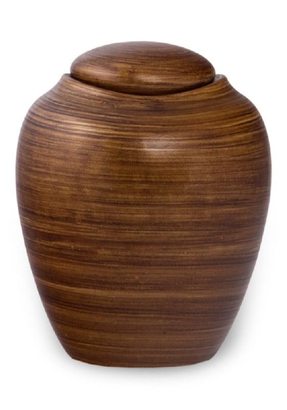 ecologische urn striping brown