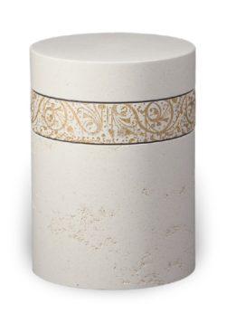 ecologische urn wit barok M
