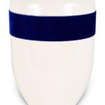 ecologische urn wit blauw