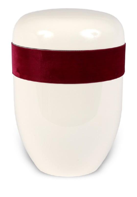 ecologische urn wit bordeaux