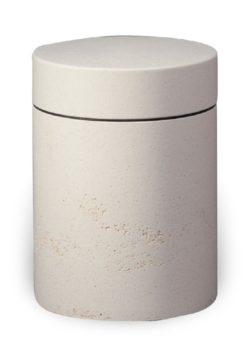 ecologische urn ruw wit