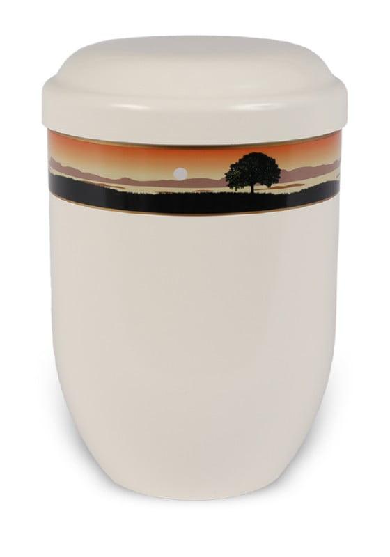 ecologische urn zonsondergang