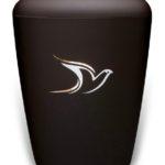 ecologische urn zwart duif