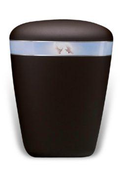 ecologische urn zwart duiven