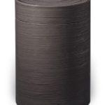 ecologische urn zwart silk