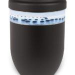 ecologische urn zwart stones