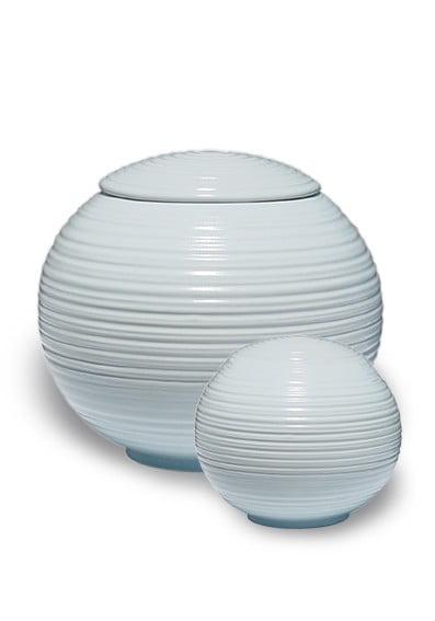 porselein miniurn urn sfera lightblue