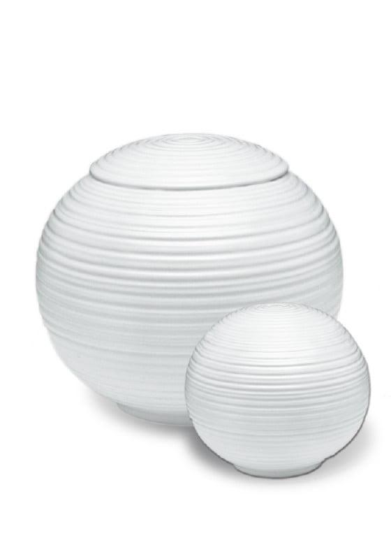 porselein miniurn urn sfera wit
