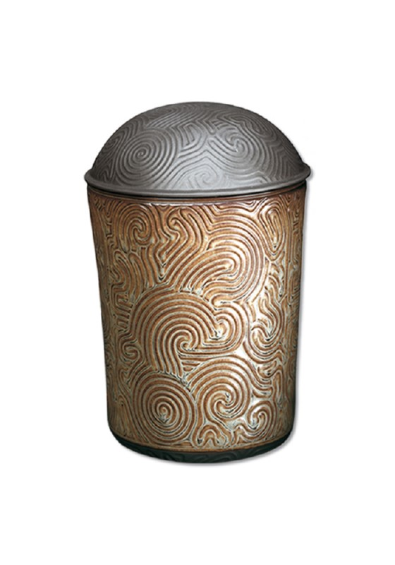 porselein urn doolhof gold/silver