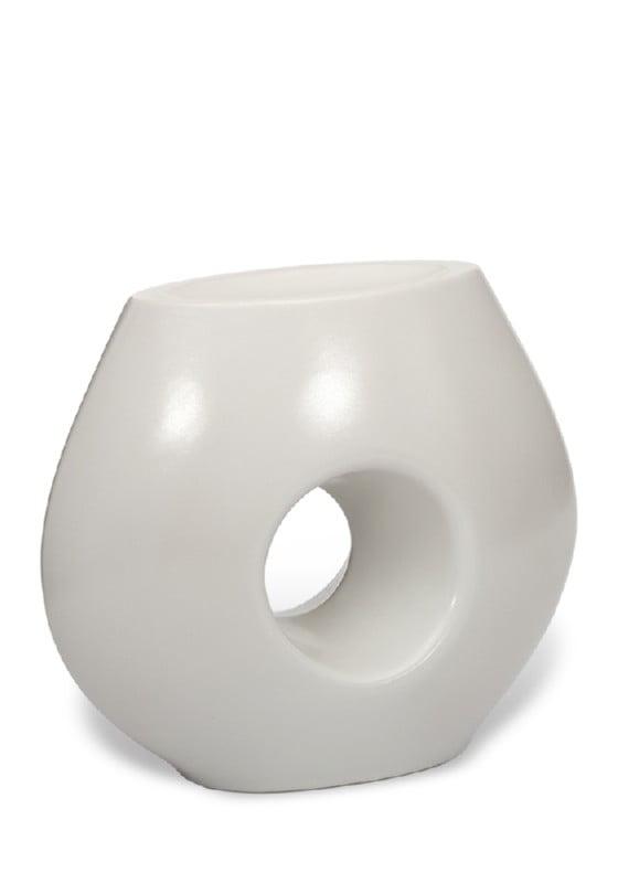 porselein urn mat wit
