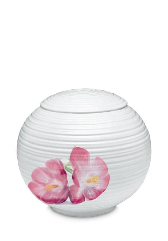 porselein urn sfera bloem