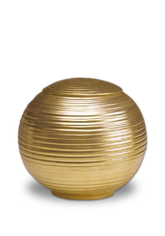 porselein urn sfera gold