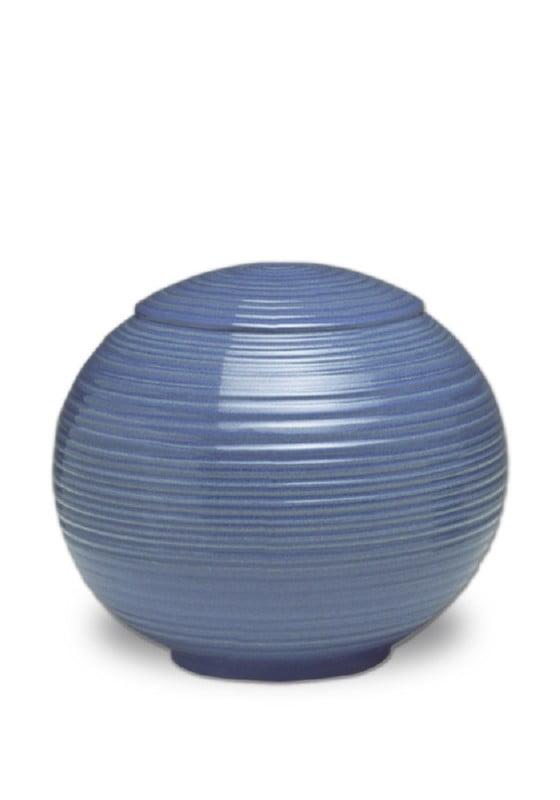 porselein urn sfera iceblue