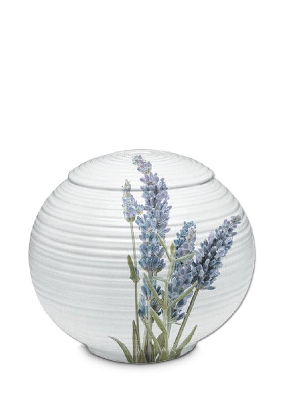 porselein urn sfera lavendel