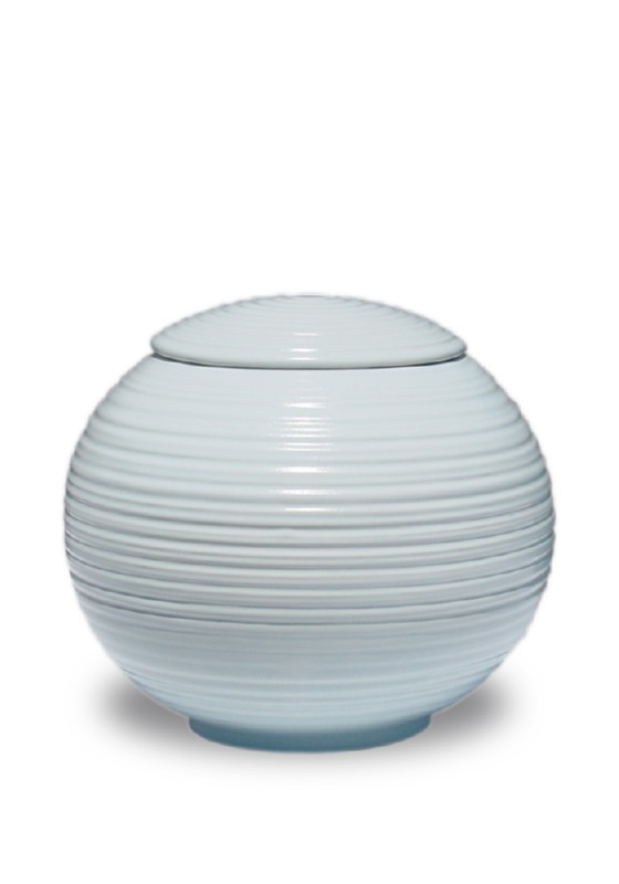 porselein urn sfera lightblue