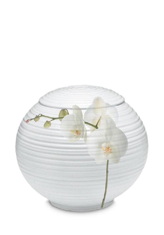 porselein urn sfera orchidee