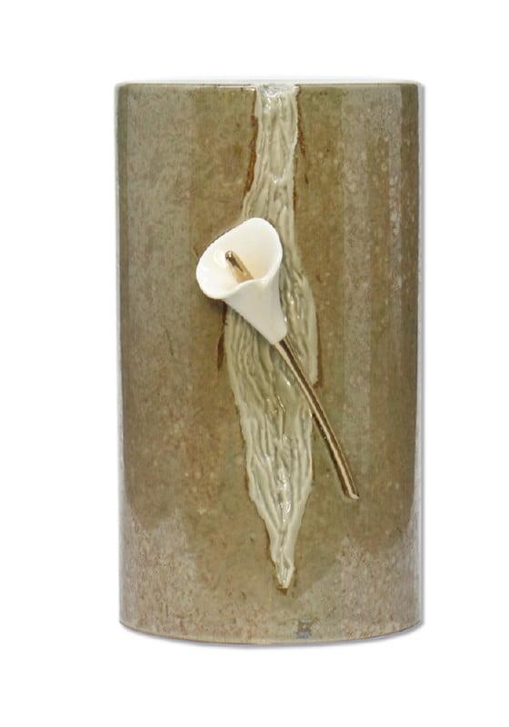urn keramiek aronskelk naturel