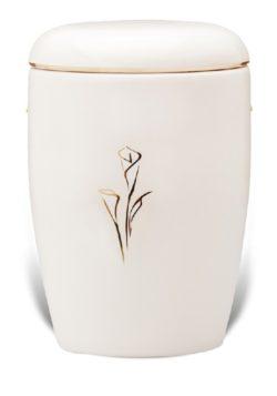 urn keramiek aronskelk wit