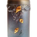 urn keramiek bladeren