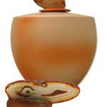 urn keramiek crystal orange