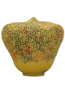 urn keramiek flowers in yellow