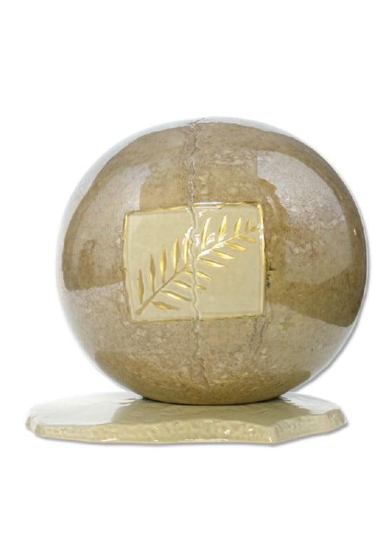 urn keramiek korenaar goud glans