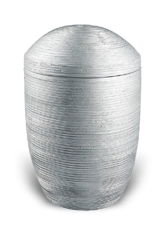 urn keramiek luxor zilver