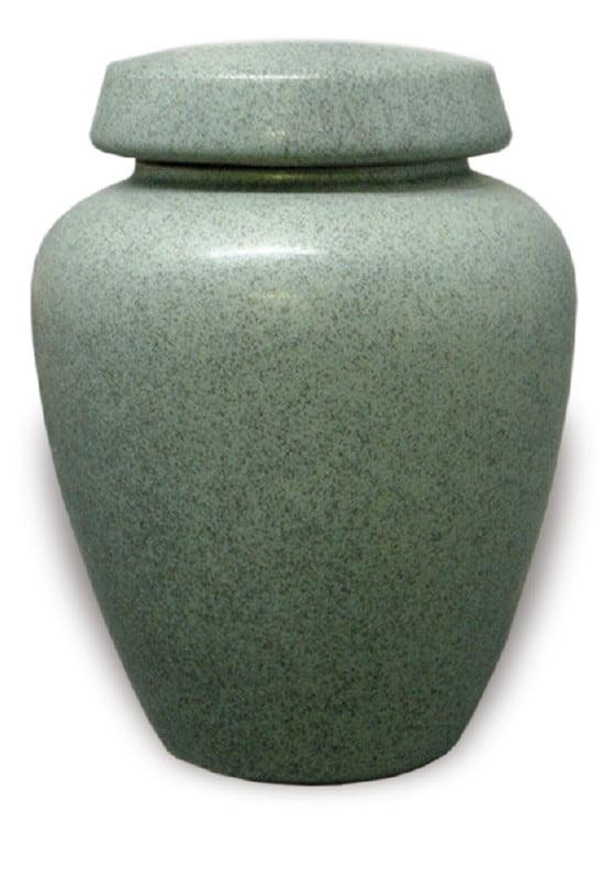 urn keramiek marmergroen