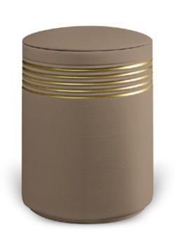 urn keramiek nova teak gold