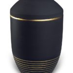 urn keramiek wave basalt gold